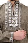 Мужская вышиванка Орнамент (оливковый), фото 4