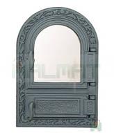 Дверки чугунные Halmat FPM1 485X325 со стеклом. Дверцы для печи и барбекю
