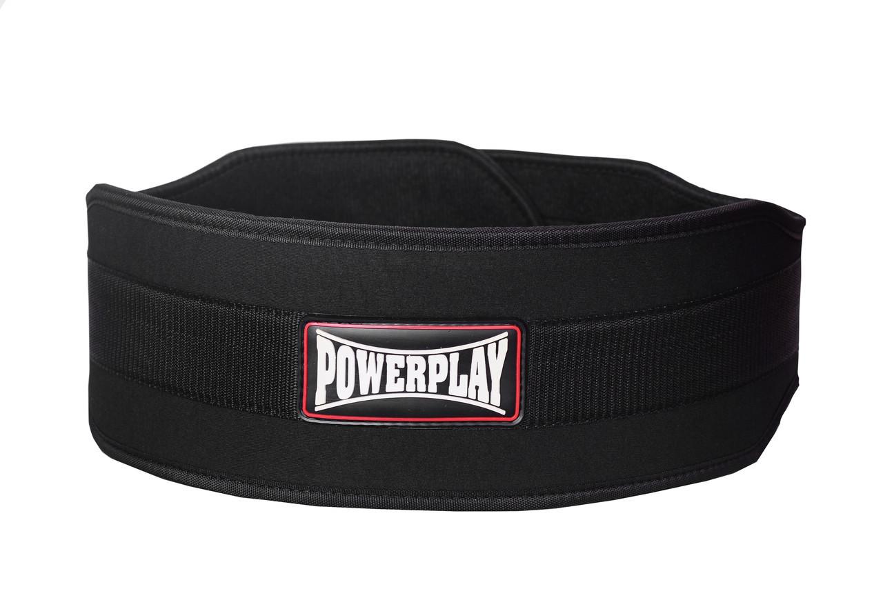 Пояс для тяжелой атлетики PowerPlay 5535 черный (Неопрен) M