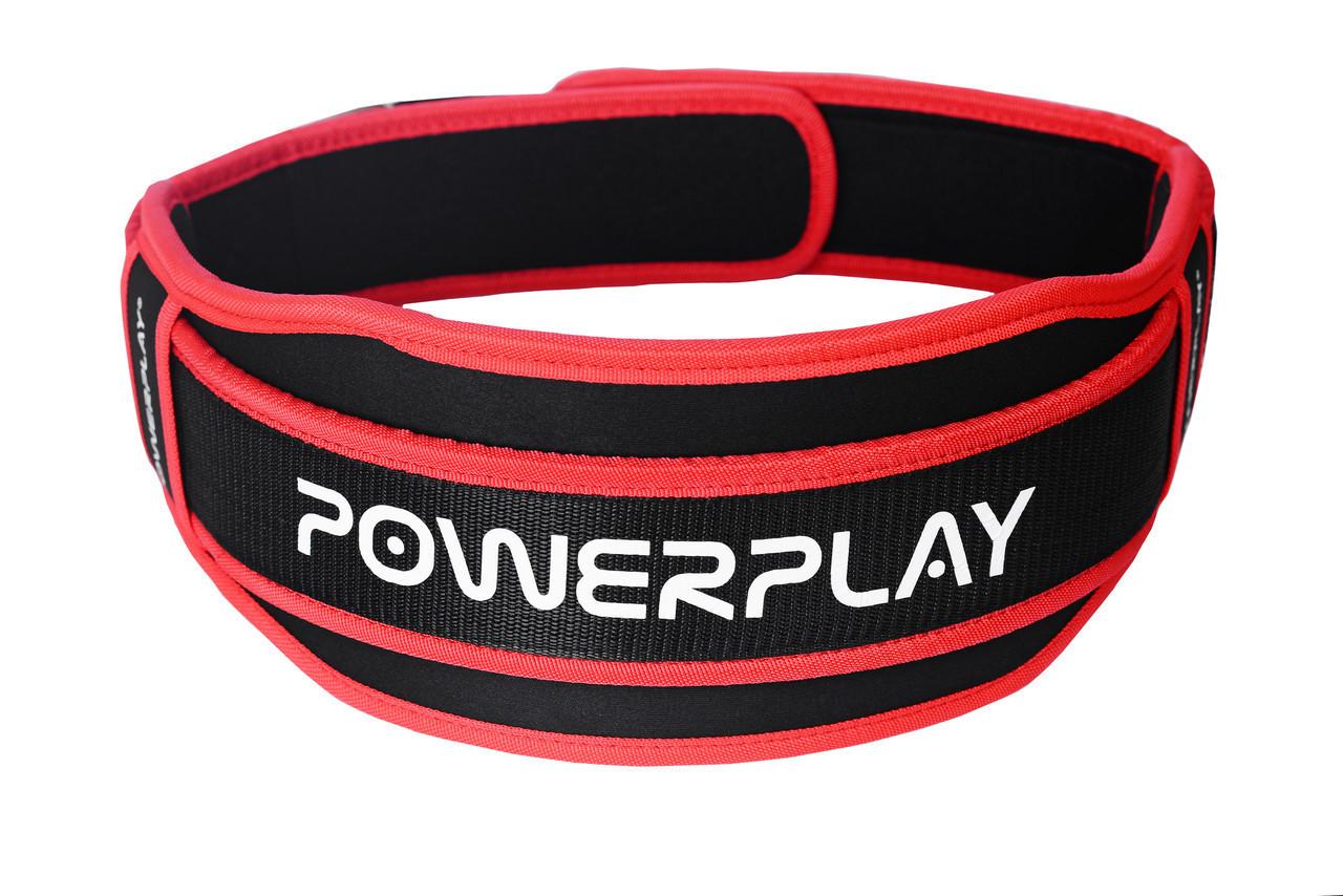 Пояс неопреновый для тяжелой атлетики PowerPlay 5545 черно-красный L