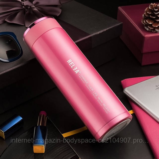 Relea, Термос-чашка Relea Elegance 450 мл Розовый