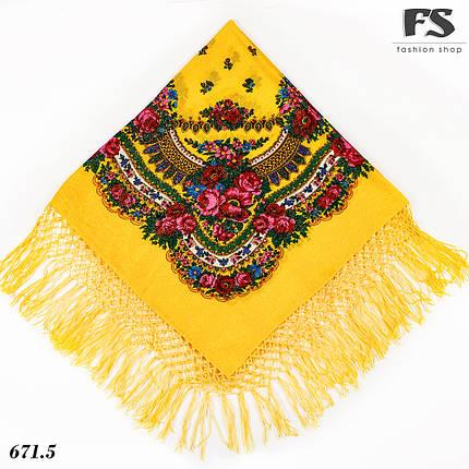 Справжня вовняна  хустка з люрексом  Чудові квіти, фото 2