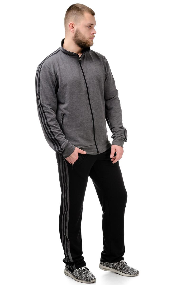 Мужской спортивный костюм Combi №4 (темно-серый+черный)