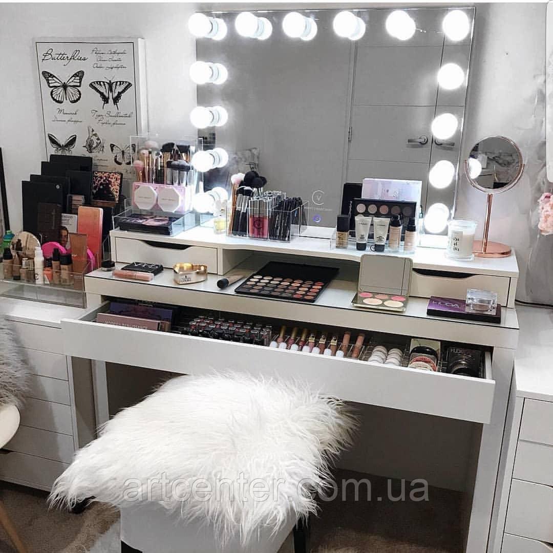 Люксовый дамский/туалетный стол с гримерным зеркалом