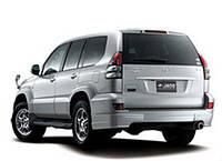 Накладки на задний бампер Toyota Prado 120 (Jaos)