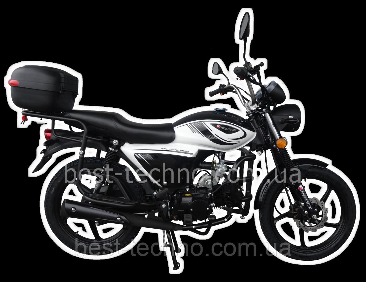Мотоцикл FORTE ALFA NEW FT125-K9A black (черный)  (Форте Альфа нью 125 куб. см.)