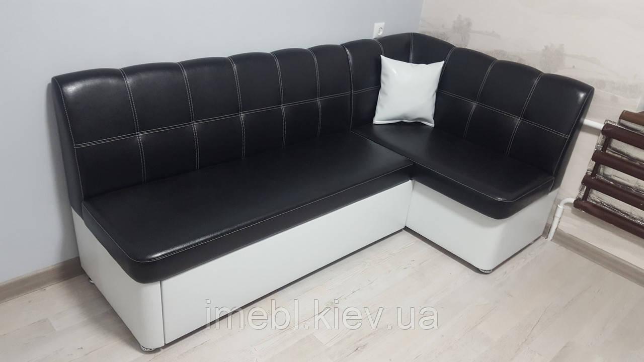 Кухонный уголок чёрно белого цвета