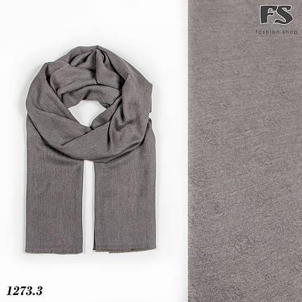 Кашемировый  серый стильный шарф Донна, фото 2