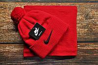 Зимняя мужская шапка + бафф Nike. ТОП качество!!! Реплика, фото 1