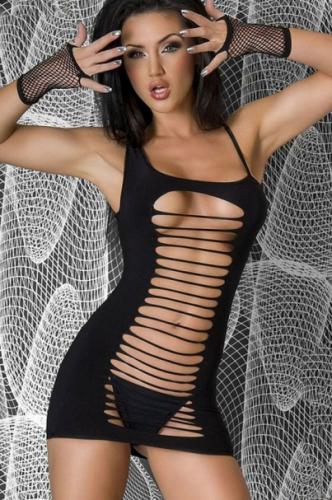 Секси платье черное с разрезами