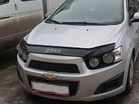 Дефлектор капота (мухобойка) Chevrolet Aveo II   c 2011 г.в