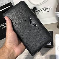 a1ee14967b71 Кожаный кошелек, портмоне. Прада. Prada Zippy Organiser Delta Logo Black
