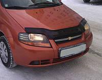 Дефлектор капота (мухобойка) Chevrolet Aveo с 2003-2006(седан) с 2003-2008 (х/б) г.в.