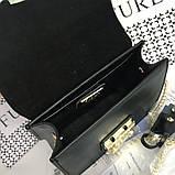 Cумка, клатч Фурла Метрополис натуральная кожа цвет черный, реплика, фото 5
