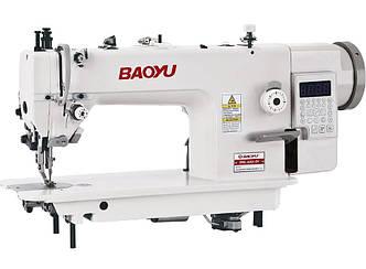 Baoyu BML-0303-D4, компьютерная швейная машина с встроенным сервомотором и двойным транспортом материала
