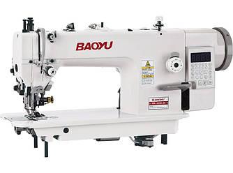 Baoyu BML-0303С-D4, компьютерная промышленная швейная машина с устройством обрезки края и двойным продвижением