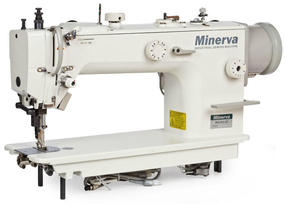Minerva M0202JD, промышленная швейная машина с регуляторами перетопа и тройным транспортом материала
