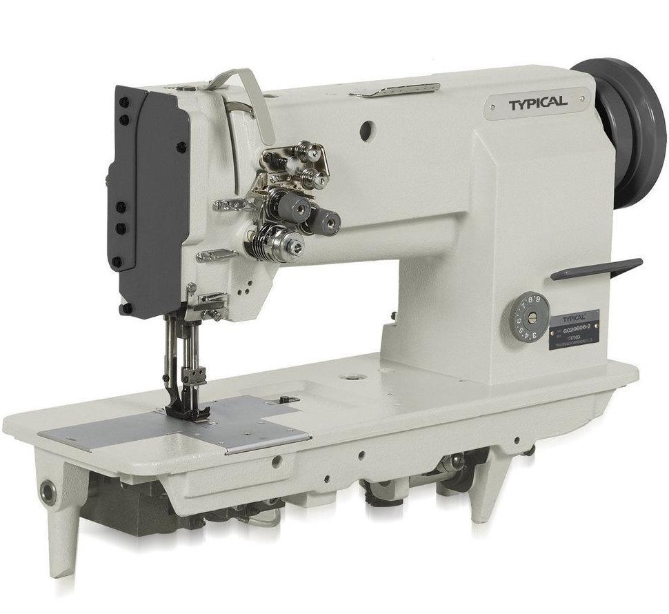 Typical GC20606, двухигольная промышленная швейная машина с тройным транспортом материала