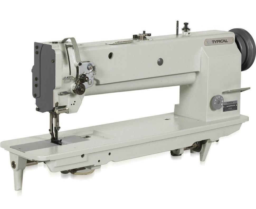 Typical GC20606-L18, двухигольная швейная машина с удлиненной платформой и тройным транспортом материала
