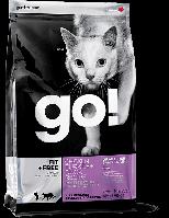 Сухой корм GO FIT + FREE (для котов и котят с курицей, индейкой, уткой и лососем) 3,63кг
