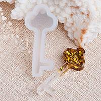 Форма для епоксидної смоли Finding Молд ключ Колір білий Силіконовий 3.8 cm x 1.7 cm