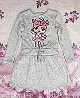 Платье на девочку Лола Lol пайетка  р. 122-140 светло-серый