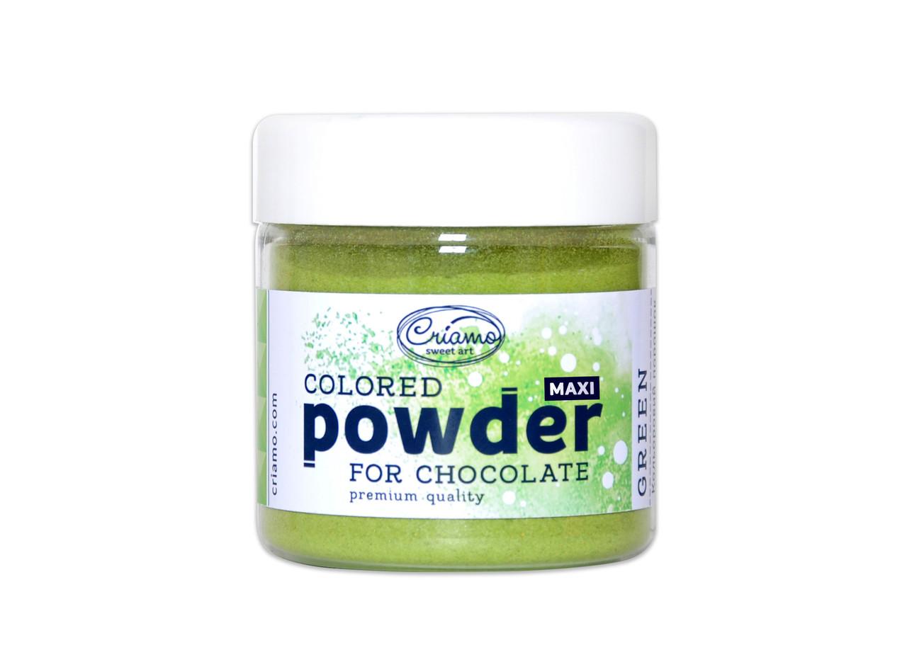 "Сухая краска для шоколада и какао-масла ""Green"" 100 г. ТМ ""Criamo"""