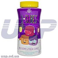 Solgar U-Cubes витамины для детей витаминный минеральный комплекс детские