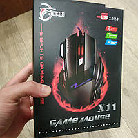 Игровая мышка Jiexin X11 3200 dpi LED подсветка Gaming USB 2.0 геймерская и компьютерная