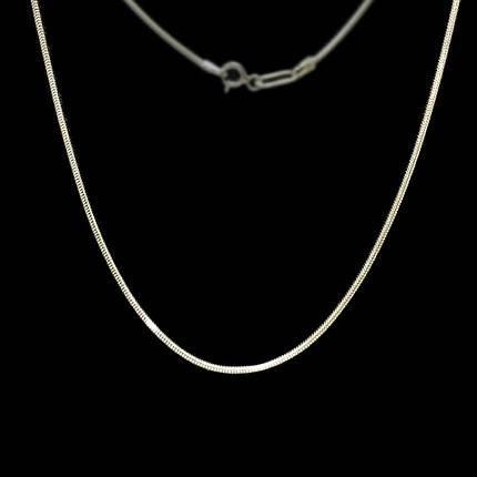 Серебряная цепочка, 500мм, 4 грамма, плетение Снейк, фото 2