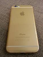 Силиконовый золотой для iphone 6 6S ультратонкий, фото 1