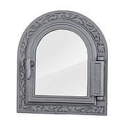 Дверки чугунные Halmat DPK9 365X325 со стеклом. Дверцы для печи и барбекю