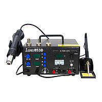 Паяльная станция LUKEY 853D фен, паяльник, блок питания 15V 2A, тестер (ID:1994)