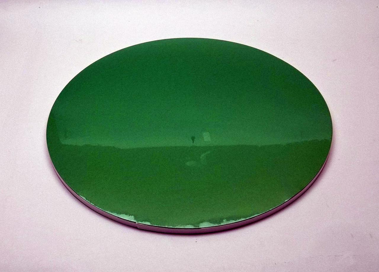 Подложка для торта d 30 см h 0,7 см зеленая