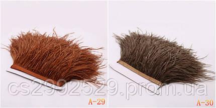Перо страуса (10м) бордовый, фото 2