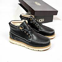 Мужские ботинки UGG Australia David BeckhamFashion Metallic Black (Реплика ААА+), фото 1