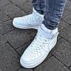 "Зимние мужские кроссовки Nike Air Force 1 High ""White"" с мехом (Реплика ААА+)"