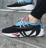 Мужские кроссовки FILA x HungryEyes Mindbreaker Black/Blue/Red . Живое фото (Реплика ААА+)