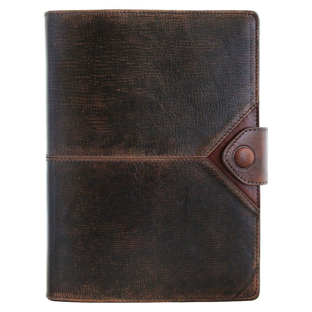 """Ежедневник кожаный А5 """"Бомбер"""". Цвет коричневый."""