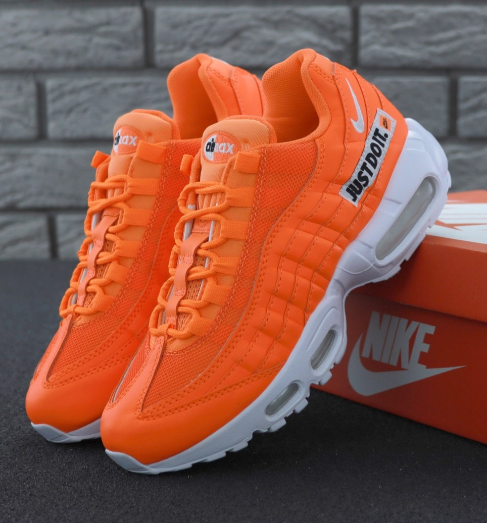 "Мужские кроссовки Nike Air Max 95 ""Just Do It"" Orange. Живое фото (Реплика ААА+), фото 1"