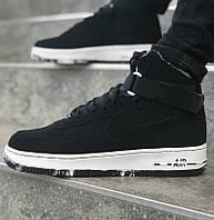Мужские кроссовки Nike Air Force High 1 Red black. Живое фото (Реплика ААА+), фото 1
