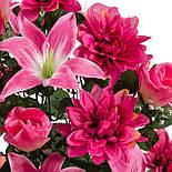 Букет лилии с бутонами роз и хризантемами, 67см (635), фото 3
