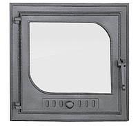 Дверки чугунные Halmat LEZKA 485X485 со стеклом. Дверцы для печи и барбекю