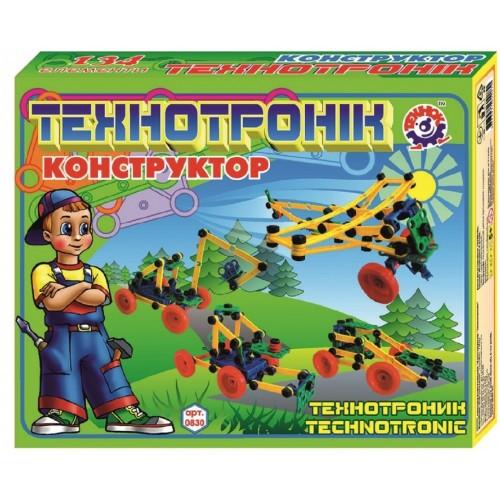 Конструктор Технотроник пластмассовый 134 детали