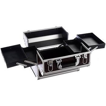 Кейс для косметики алюминиевый Master Professional 3615 Коричневый