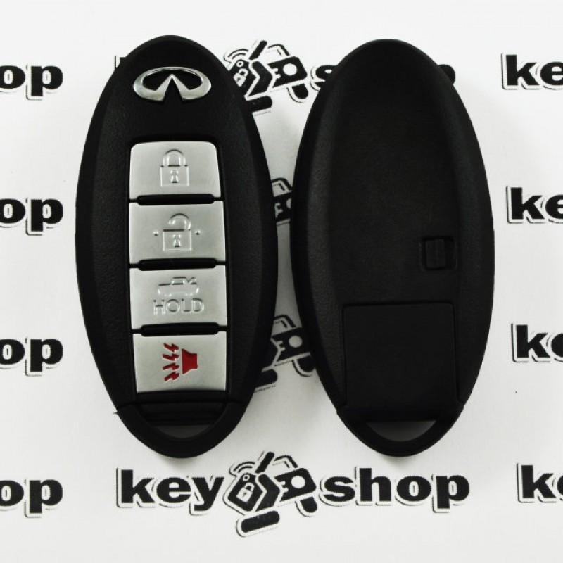 Оригинальный смарт ключ Infiniti M56, M36, M35 Hybrid, QX 70 (Инфинити) 3 + 1 кн, чип ID46, PCF7952, 433 MHz