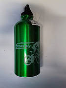 Велосипедная фляга (алюминиевая, зелена) (500ml) YKX