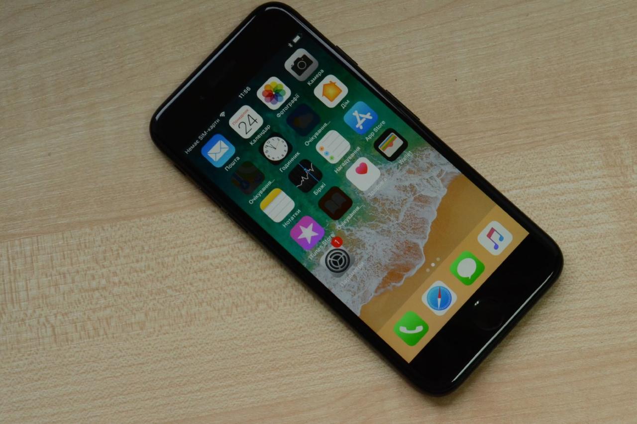 Apple iPhone 7 128Gb Jet Black Neverlock Оригинал!