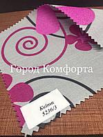 Рулонные шторы Квіти розовые