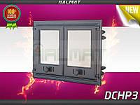 Дверки чугунные Halmat DCHP3 675X480 со стеклом. Дверцы для печи и барбекю